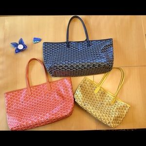 Three Colourful tote bags. Lg, Med & Sm